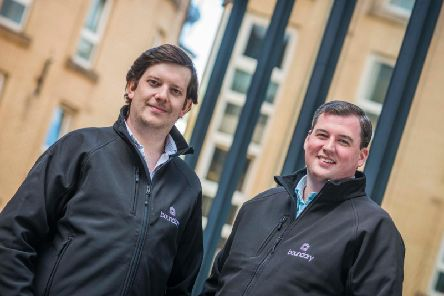 Walton (left) and Knox sold IPos to Swedish payments firm iZettle in 2016. Picture: Chris Watt.