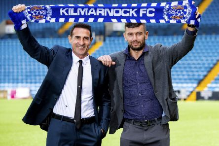 Angelo Alessio, left, was unveiled at Rugby Park yesterday as Kilmarnock's new manager, along with his assistant, Massimo Donati. Picture: SNS.