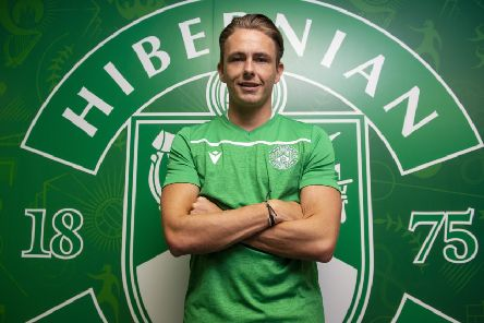 New Hibs signing Scott Allan at Easter Road as he joined the club for the third time. Picture: Ross MacDonald/SNS