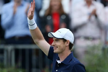 Andy Murray celebrates victory at his comeback match at the Queen's Club. Picture: Steven Paston/PA Wire