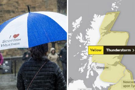 Yellow weather warnings are in place across Scotland. Picture: SWNS/Met Office