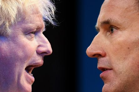 Boris Johnson and Jeremy Hunt are going head to head for the Conservative leadership, with campaigning beginning in earnest yesterday ahead of an MPs' hustings. Picture: Getty