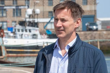 Conservative Party leadership candidate Jeremy Hunt visits Peterhead. Picture: PA