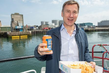 Jeremy Hunt visited Peterhead, the UK's busiest fishing port, last weekend on the campaign trail