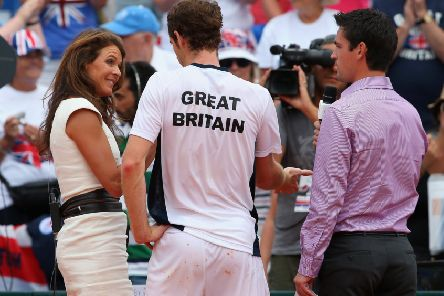 Annabel Croft, interviewing Andy Murray after a Davis Cup tie in 2013, has been following the Scot's career since he was 15 years old. Picture: Julian Finney/Getty Images