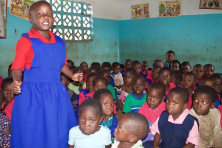 A nursery class in a school outside Lilongwe, the capital of Malawi (Picture: Danny Phillips)