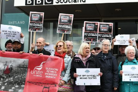The licence fee axe has prompted protests