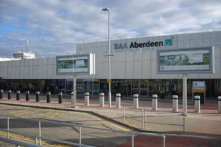 The incident happened at Aberdeen Airport.
