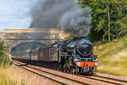 A Stanier Black Five engine on an SRPS tour from Linlithgow to Tweedbank. Picture: Keith Sanders
