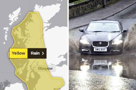 Parts of Scotland have been warned to expect heavy rain which could lead to flooding by expert forecasters.