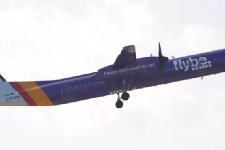 The Flybe flight was diverted to Birmingham after experiencing a suspected technical fault in mid-air. Picture: Contributed