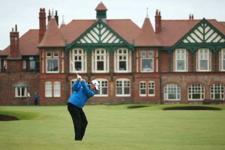 LYTHAM ST ANNES, ENGLAND - JULY 18:  Paul Lawrie of Scotland hits a shot during the third practice round prior to the start of the 141st Open Championship at Royal Lytham & St Annes on July 18, 2012 in Lytham St Annes, England.  (Photo by Andrew Redington/Getty Images)