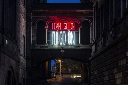 I Can't Go On, I'll Go On, by Alfredo Jaar - part of the 2019 Edinburgh Art Festival