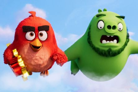 A film still from The Angry Birds Movie 2. Pictured: (L-R) Red (voiced by Jason Sudeikis) and Leonard (Bill Hader). Picture: PA Photo/Rovio Animations/CTMG, Inc.