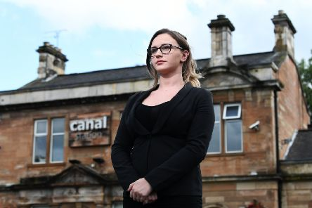 Amy Szuster, assistant manager, outside the Canal Station Bar & Restaurant. Picture: John Devlin
