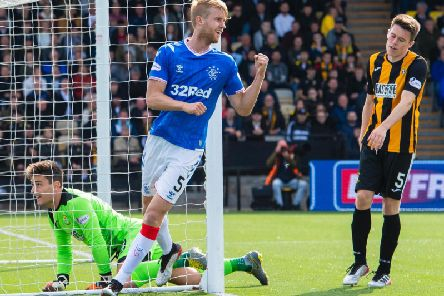 Filip Helander in action for Rangers against East Fife.