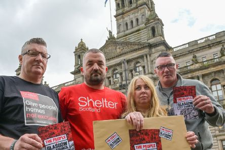 "A delegation of formerly homeless people are to deliver a copy of a lawyer""s letter to Glasgow City Council."