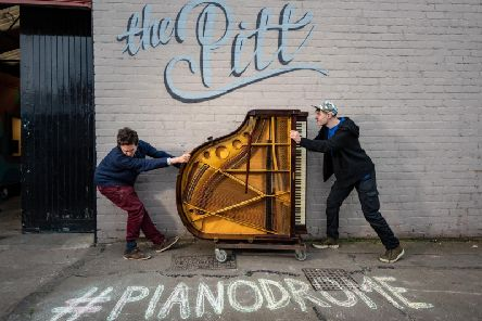 Musicians Tim Vincent-Smith and Matthew Wright created the new from old pianos.