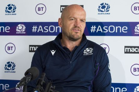 Scotland coach Gregor Townsend announces his team to play France at BT Murrayfield. Picture: Mark Scates/SNS