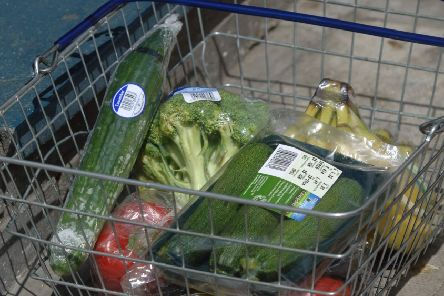 Packaged fruit and vegetables from Tesco Express