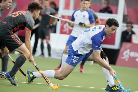 Nicky Parkes, right, was on target in Scotland's 4-2 win over Wales. Picture: AP.