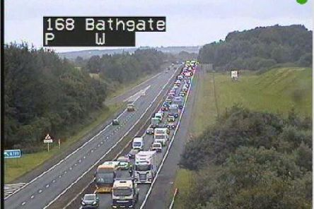 Traffic is building on the M8 around Edinburgh. PIC: Traffic Scotland