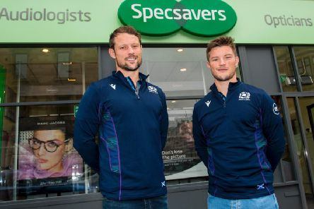 Players Pete and George Horne outside the Specsavers Byres Road store where they recently had their eyes tested. Picture: Contributed