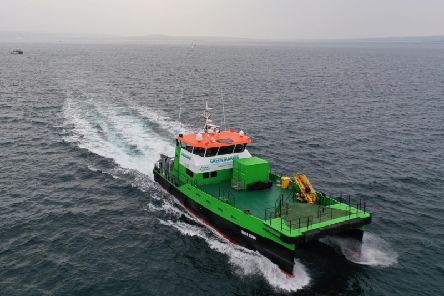 Green Storm is a dedicated vessel for the offshore wind industry, providing transportation of personnel and cargo to major installations. Picture: Contributed