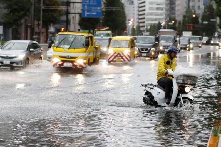 Several railway and subway operators suspended services and flights were cancelled at Tokyo airports as Typhoon Faxai passed over Chiba.