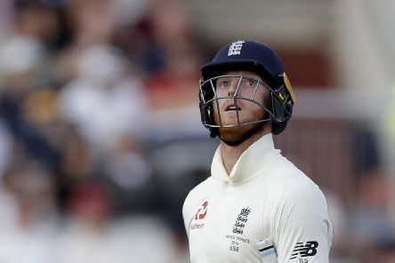 Ben Stokes, dejected after losing his wicket on the final day at Old Trafford,  now faces a fitness check. Picture: Getty