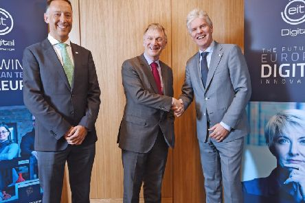 EIT Digital chief education officer Roberto Prieto, Scottish Innovation Minister Ivan McKee, and EIT Digital chief executive Willem Jonker. Picture: Neil Hanna