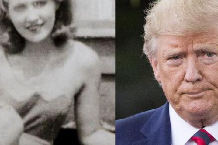 Donald Trump alongside his mother.