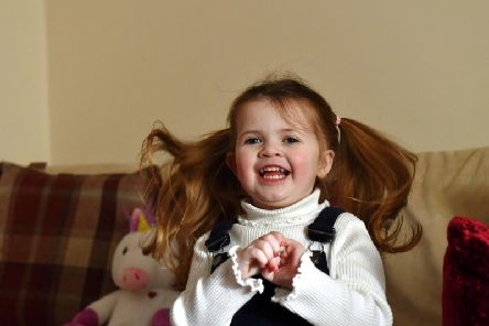 Little Ayda Louden, aged four, suffers with the debilitating illness that shortens life by causing lung damage, diabetes and liver disease.