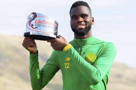 Celtic striker Odsonne Edouard with his Ladbrokes Premiership Player of the Month award for August. Picture: Craig Foy/SNS
