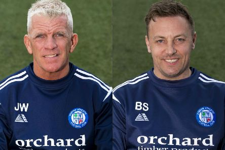 Jim Weir (left) and Barry Sellars both escaped serious injury in the collision