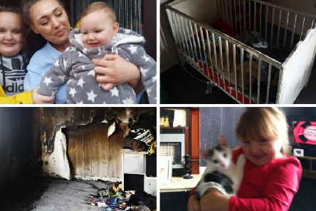 Young mother of two children loses everything in West Lothian house fire, including pet cat Sparkles