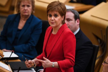 First Minister Nicola Sturgeon was asked about her email use during FMQs.