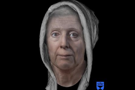 "A digitally reconstructed face of an 18th-century ""witch"" Lilias Adie as she may have appeared  in the early 1700s. Picture: PA"