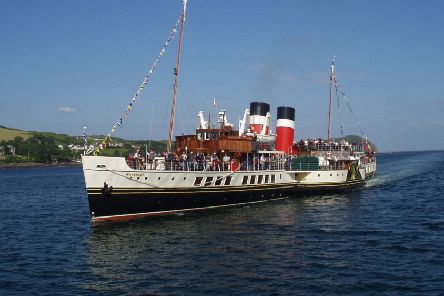 The paddle steamer Waverley.
