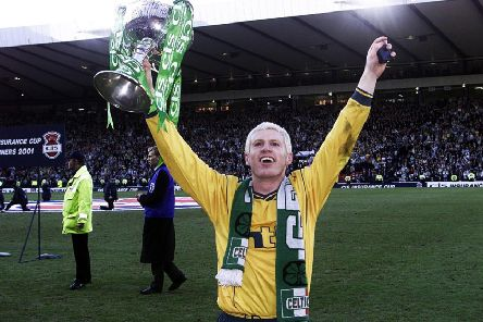 Neil Lennon enjoyed League Cup success as a player with Celtic, beating Kilmarnock in the 2001 final, but has yet to win the trophy as a manager. Photograph: SNS Group