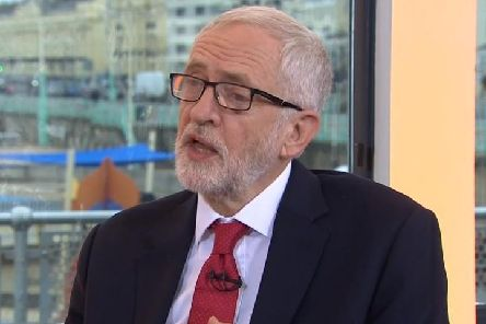 Labour leader Jeremy Corbyn appearing on the BBC's Andrew Marr Show in Brighton