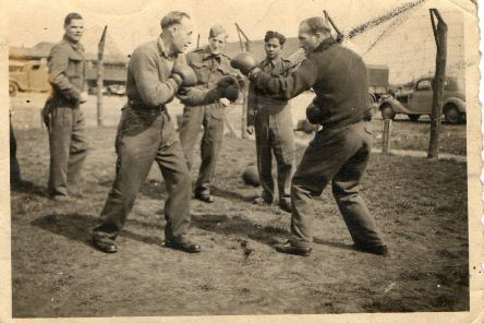Sports events - especially football, but also boxing, were ways of trying to stay fit during the long imprisonment.