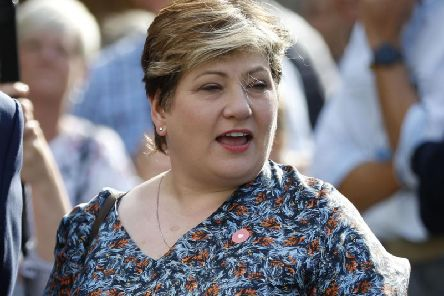 Emily Thornberry gestures as she speaks at College Green, Westminister in central London on September 4, 2019. Picture: PA
