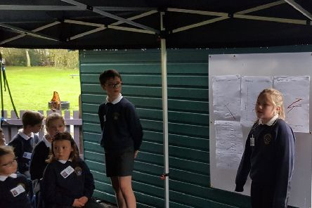 Sprouston Primary pupils give their findings on the week's weather