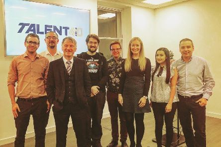 Talent4Point0 was launched at the Glasgow offices of MBN Solutions, with Ivan McKee (third left) among the speakers