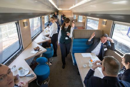 View of the new sleeper train. Picture: Jeff Holmes/Shutterstock