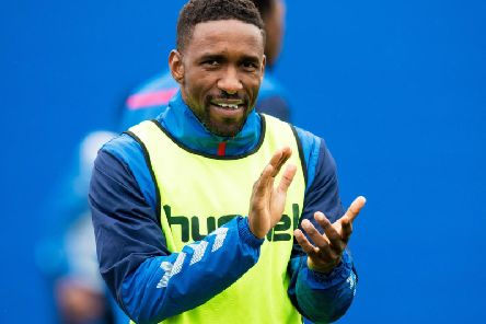 Jermain Defoe is loving life at Ibrox. Picture: SNS