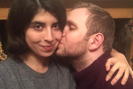 Academic Matthew Hedges, with his wife Daniela Tejada, back at home in the UK following his release from prison in the United Arab Emirates (Picture: Daniela Tejada/PA Wire)