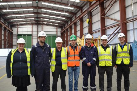 From left: Karen Brown, Chris Howley, Graham Petrie, Calum Reilly, James Pinsent, Lewis Sim, Ray Milne. Picture: Contributed