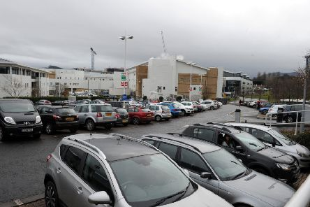 NHS staff like those parking at Edinburgh Royal Infirmary will be exempt from the new levy (Picture: Lisa Ferguson)